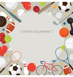 Sports Equipment Flat Icons Frame vector image vector image