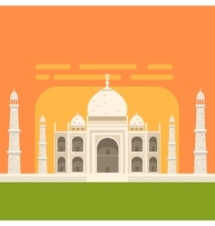 Taj Mahal White Burial Monument Famous vector image vector image