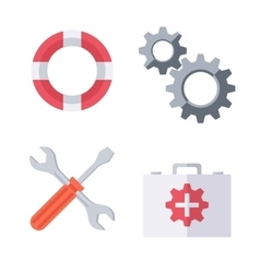 Technical support symbols vector