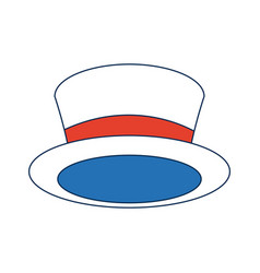 Top hat for men fashion vintage accessory vector
