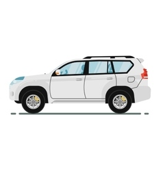 Universal citycar isolated on white background vector