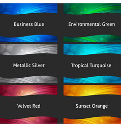 wavy colorful backgrounds vector image vector image