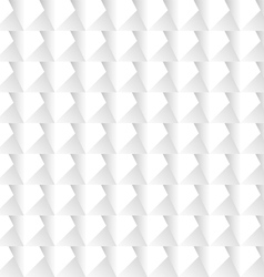 White 3d geometric background vector image vector image