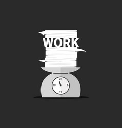 Work and paper on day scales vector