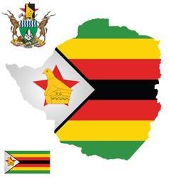 Zimbabwe Flag vector image vector image