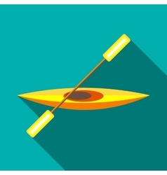 Canoe icon in flat style vector