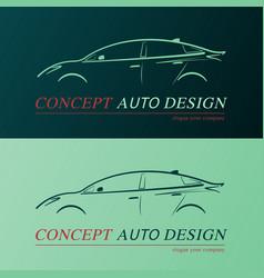 concept auto design card vector image
