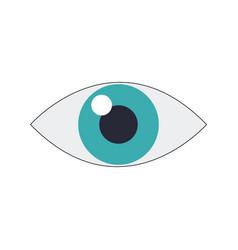 Eye icon surveillance system emblem vector