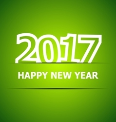2017 happy new year on green background vector
