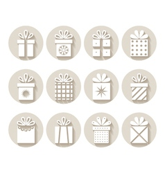 Set of gifts packages vector image