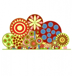 funky floral background vector image