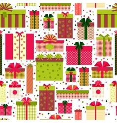 Attractive gift boxes pattern on white background vector