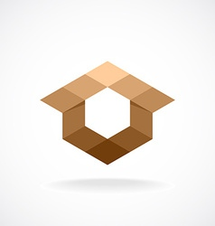 Real estate logo template abstract rhombus concept vector