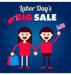 Labor day couple vector