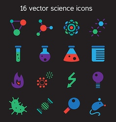 Science set icons vector