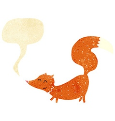 Cartoon little fox with speech bubble vector