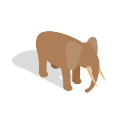 Elephant icon in isometric 3d style vector