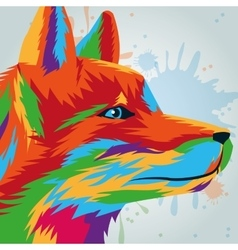 Wolf icon animal and art design graphic vector
