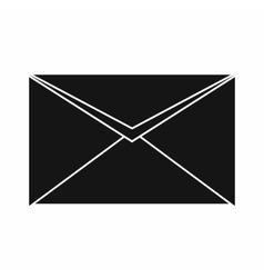 Closed envelope icon simple style vector