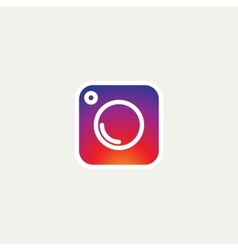 Social Media Icon photo camera instagram icons vector image