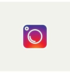 Social Media Icon photo camera instagram icons vector image