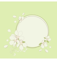 Apple flowers frame vector image vector image