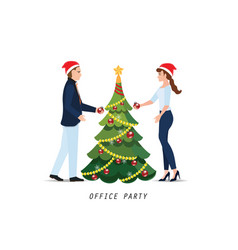 business people with red santa claus hats vector image vector image