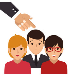 Businesspeople character avatar icon vector