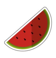 cartoon watermelon juicy fruit icon vector image vector image