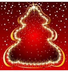 Christmas tree lights vector image vector image