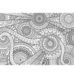 Complex mandala movement design for adult coloring vector image vector image