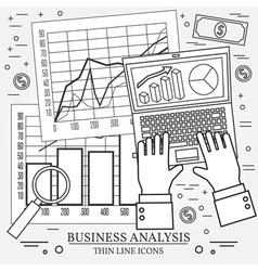 Concepts for business analysis and planning consul vector