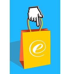 E-bag vector image