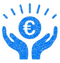 Euro prosperity grunge icon vector