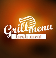 Grill menu label design lineart concept vector image vector image