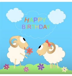 Happy birthday cute card vector image vector image