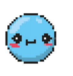 Isolated blue emoticon design vector