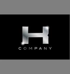 K silver metal letter company design logo vector