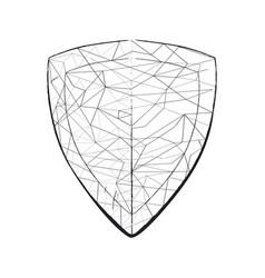 Light sketch shaped on shield vector