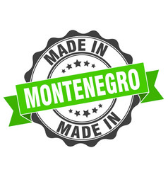 Made in montenegro round seal vector