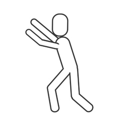 Man pictogram reaching icon vector