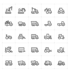 mini icon set - construction machine icon vector image vector image