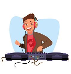 modern dj playing progressive electro vector image