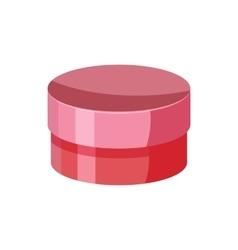 Round cardboard box icon cartoon style vector image