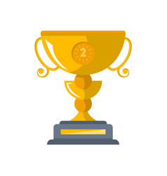 second place golden cup isolated icon vector image vector image