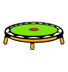 Small fitness trampolin icon icon cartoon vector