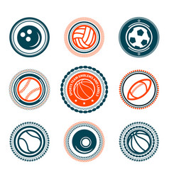 sports set of premium stamps vector image vector image