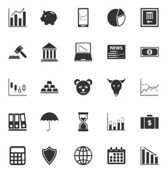 Stock market icons on white background vector image vector image