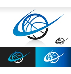 Swoosh Basketball Logo Icon vector image
