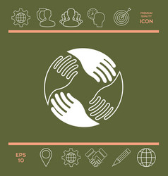 teamwork hands human connection logo vector image